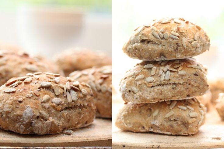No knead whole grain rolls