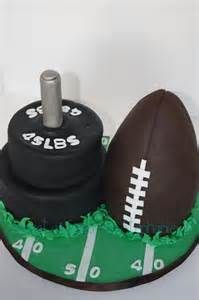 ... as Sugar by Stephanie: A football and weightlifting themed grooms cake