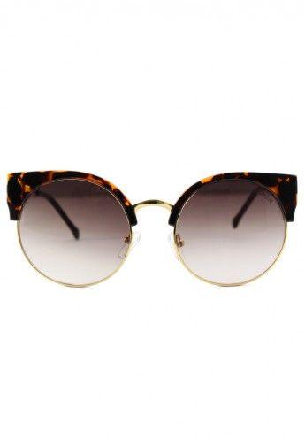 Dark Amber Kitten Cat Eye Sunglasses