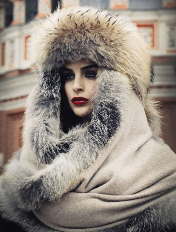 Russian beauty. Russian girls. Fur. Winter fashion.