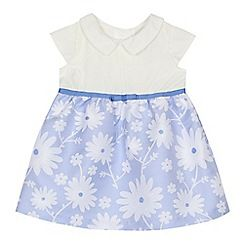 33a9a39049 J by Jasper Conran -  Baby girls  blue floral textured dress