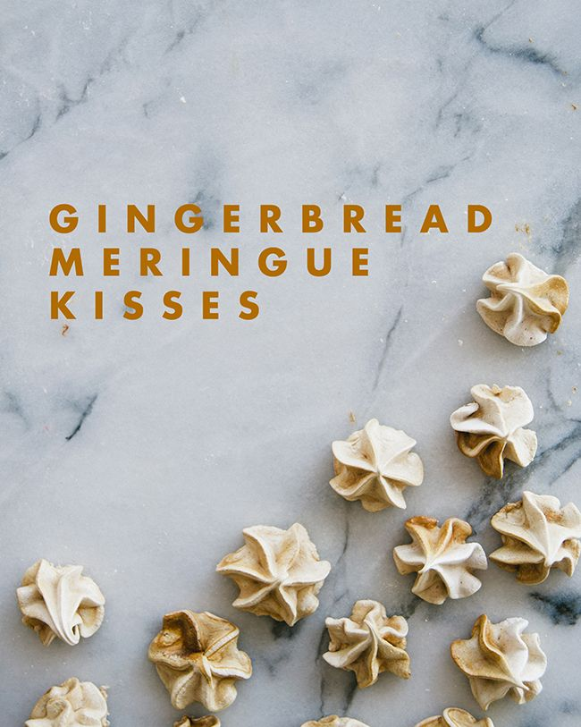 GINGERBREAD MERINGUE KISSES // The Kitchy Kitchen
