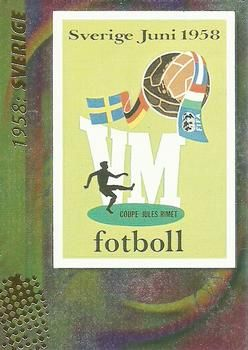 2002 Panini World Cup #9 Official Poster 1958 Sverige Front