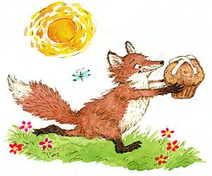 by Marsha Winborn Oh this made me think of you Rose.  Especially on your birthday!  Fox, cupcake.