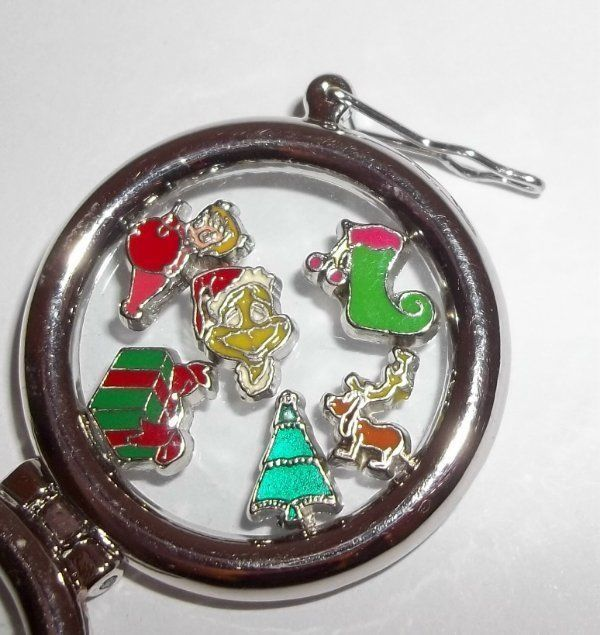 6 Piece GRINCH MAX CINDY LOU  Christmas Tree Stocking Present Floating CHARMS #MIXEDLOT #FloatingCharms