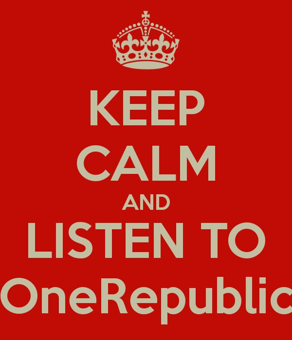 OneRepublic forever! I need a shirt with this on it! :o that would be the greatest thing ever!!