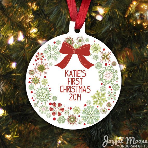 Baby's First Christmas Ornament Personalized by JoyfulMoose