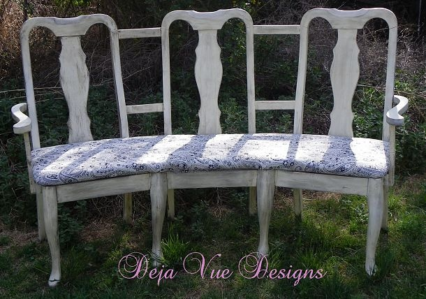 DIY: Three Found Chairs Turned Into a Curvy Bench