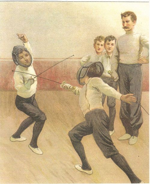 1910 BOYS fencing class /  Museum of American Fencing, Shreveport, LA