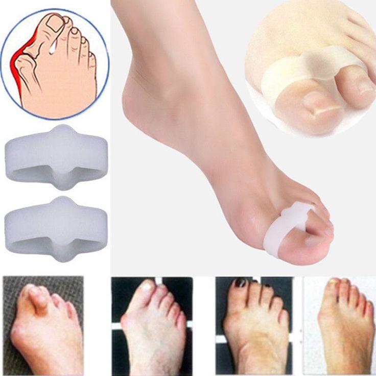 1Pair Women 2 Hole Gel Toe Straighteners Separator Bunion Corrector Pain Relief  #UnbrandedGeneric