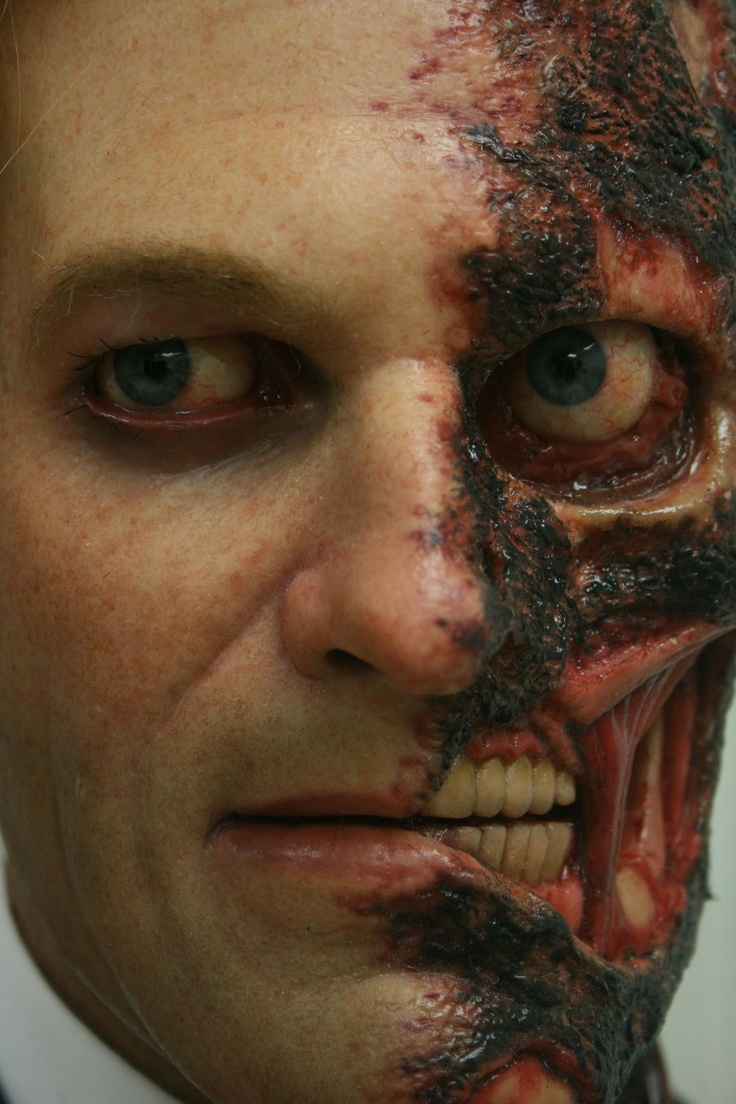 two face batman special effects make up love the double face concept