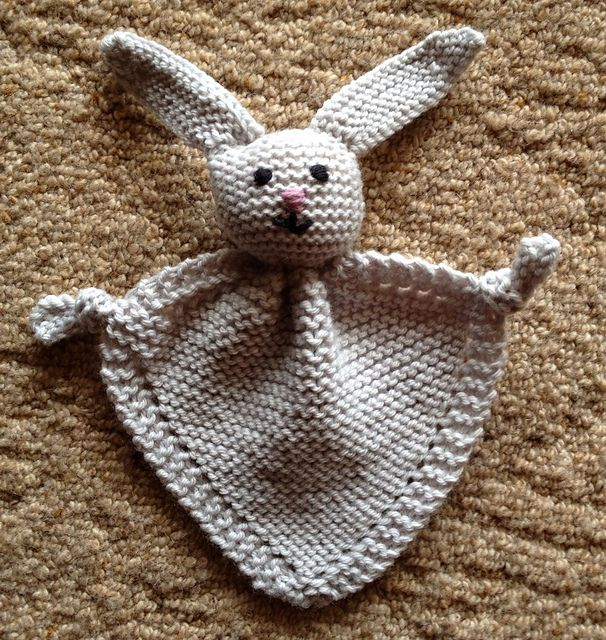 Bunny Blanket Knitting Pattern : 141 best Knitted Baby Gifts images on Pinterest
