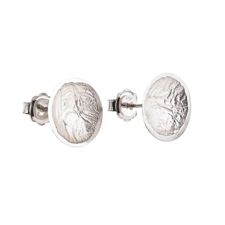 moon drop studs: large by anne morgan contemporary jewellery | notonthehighstreet.com