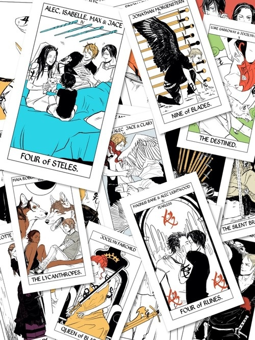 Tarot cards - OMG look at the Malec one.... :le sigh: