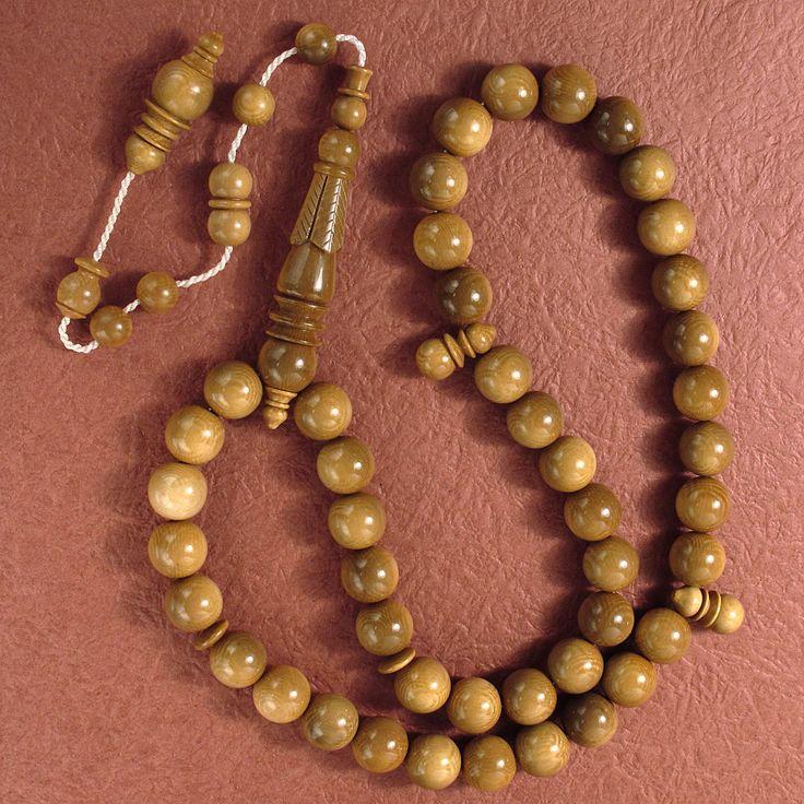 Mammoth Ivory Islamic 33 Prayer Beads Rosary (14mmb) Carved Bead MTR735 #tesbih #islamic #muslim #masbaha #ajiza #masbah #tesbih #tespih #subhah #tasbih #monks #misbaha #prayerbeads #prayer #rosary #mala #japa #fayruz #muslim #arabic #turkish