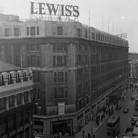 Lewis's, Argyle Street, Glasgow. (1950s) Picture: TSPL
