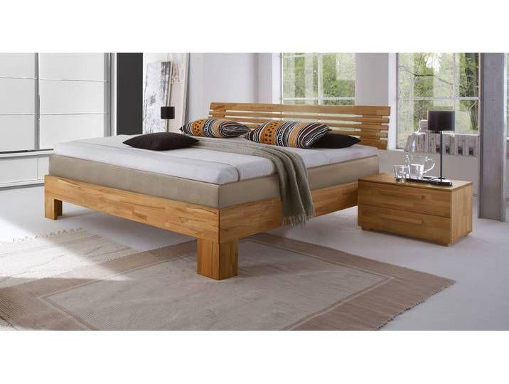 Boxspringbett Holz Sardinien 140x220 Cm Buche Kirschbaumfarben