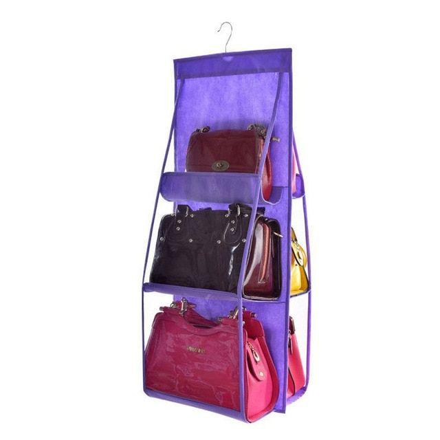 6 Pocket Folding Hanging Handbag Storage Organizer Sundry Bag