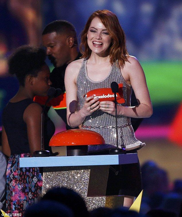 Winner: Emma Stone realized a childhood dream as she won the Kids' Choice Award for Favorite Movie Actress on Saturday night