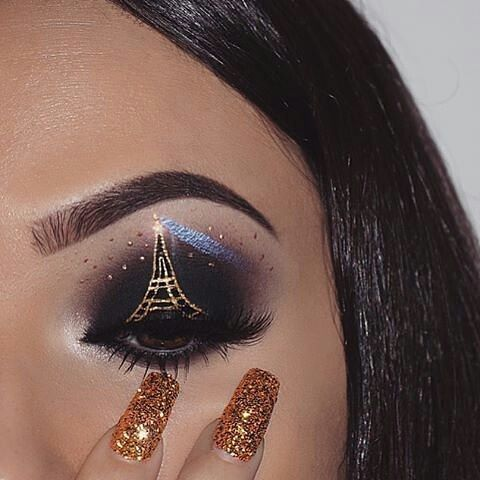 Eiffel Tower makeup from @nasiabelli