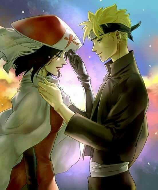 Sarada Uchiha - The Hokage and Boruto Uzumaki as her protector ♥♥♥ #love #couple #NarutoAndSasuke #NextGeneration