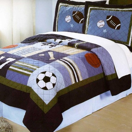 All State Sports Bedding Quilt Boys Bedrooms Boys