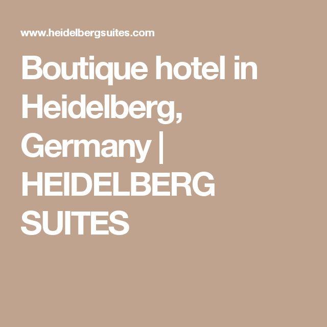 Boutique hotel in Heidelberg, Germany | HEIDELBERG SUITES