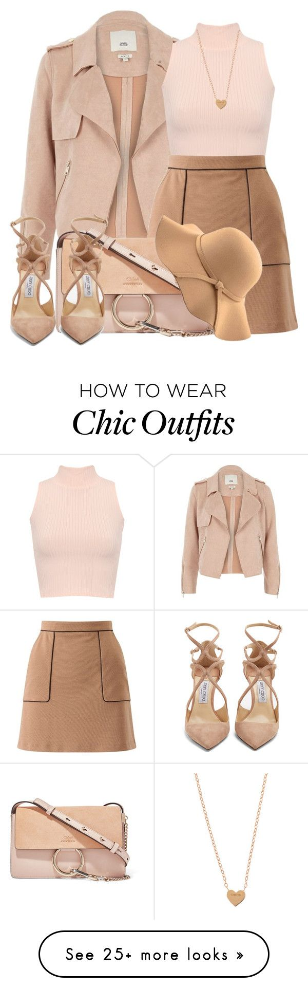 """""""Just chic and girly"""" by benerojay on Polyvore featuring River Island, WearAll, Miss Selfridge, Chloé, Jimmy Choo and WithChic"""