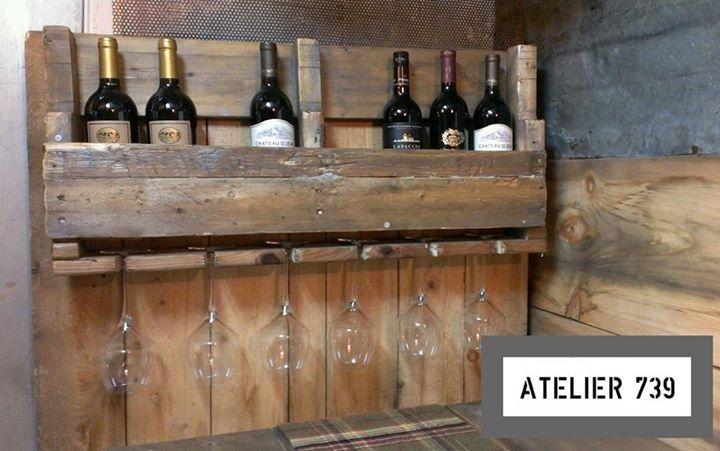 Rack à vin et porte-verres Atelier 739
