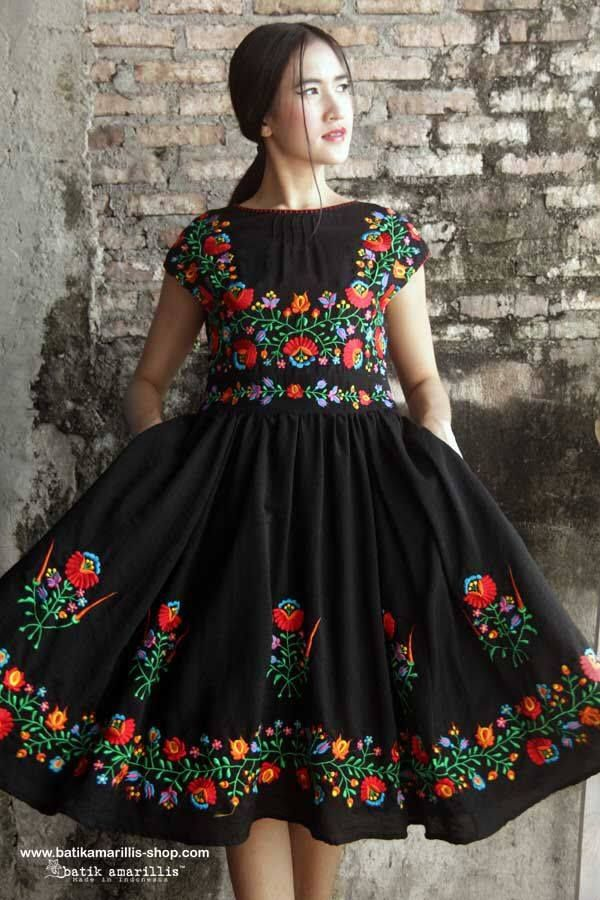 Here's a great application of Hungarian embroidery. Made in Indonesia!! :) Check out their shop here: http://batikamarillis-shop.com/