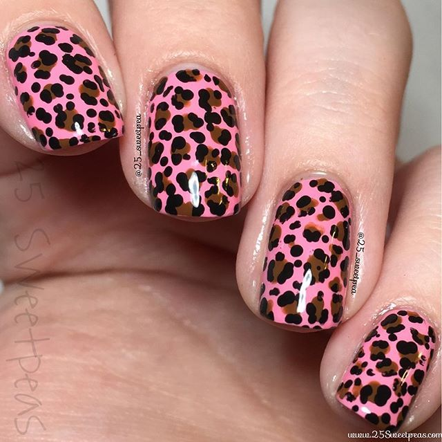 68 best nail art leopard nails images on pinterest nail art instagram post by 25 sweetpeas pink leopard nailsrainbow prinsesfo Choice Image