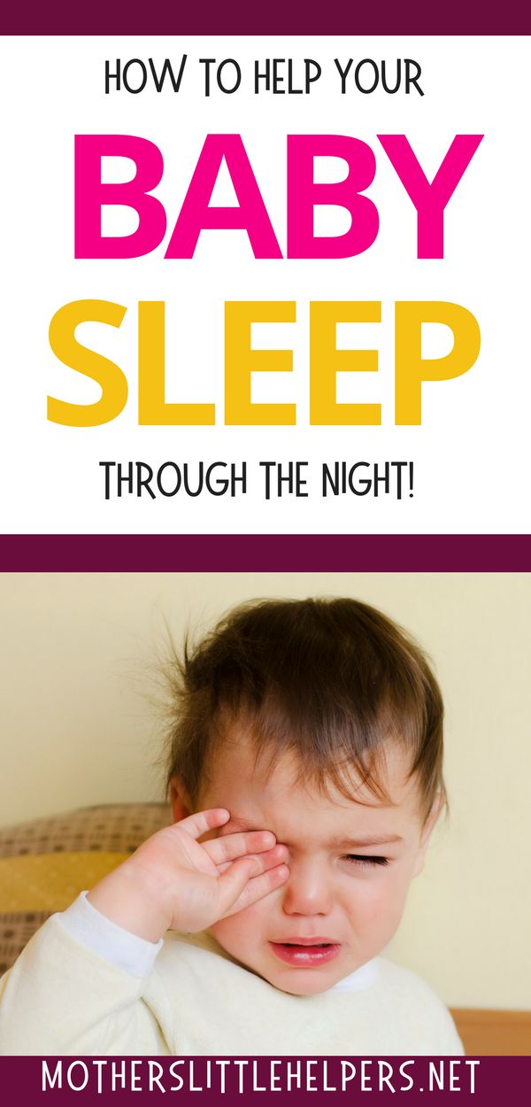 how to help your infant sleep through the night
