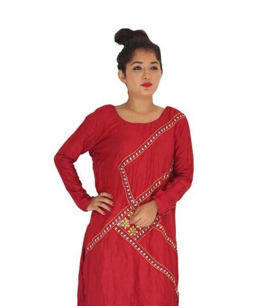 LadyIndia.com #Stitched Kurti, Garg Fashion Daily Wear Maroon Designer Cotton Stitched Kurti, Stitched Kurti, Kurtas, Daily Wear Kurti, Designer Kurti, https://ladyindia.com/collections/ethnic-wear/products/garg-fashion-daily-wear-maroon-designer-cotton-stitched-kurti