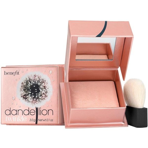 Benefit Dandelion Twinkle Powder Highlighter ($38) ❤ liked on Polyvore featuring beauty products, makeup, face makeup, face powder, nude pink and benefit perfume