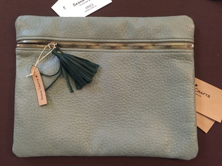 leather clutch, leatherbag, olive leather purse custom made