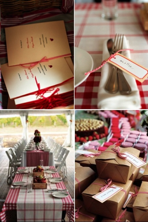 Red country wedding
