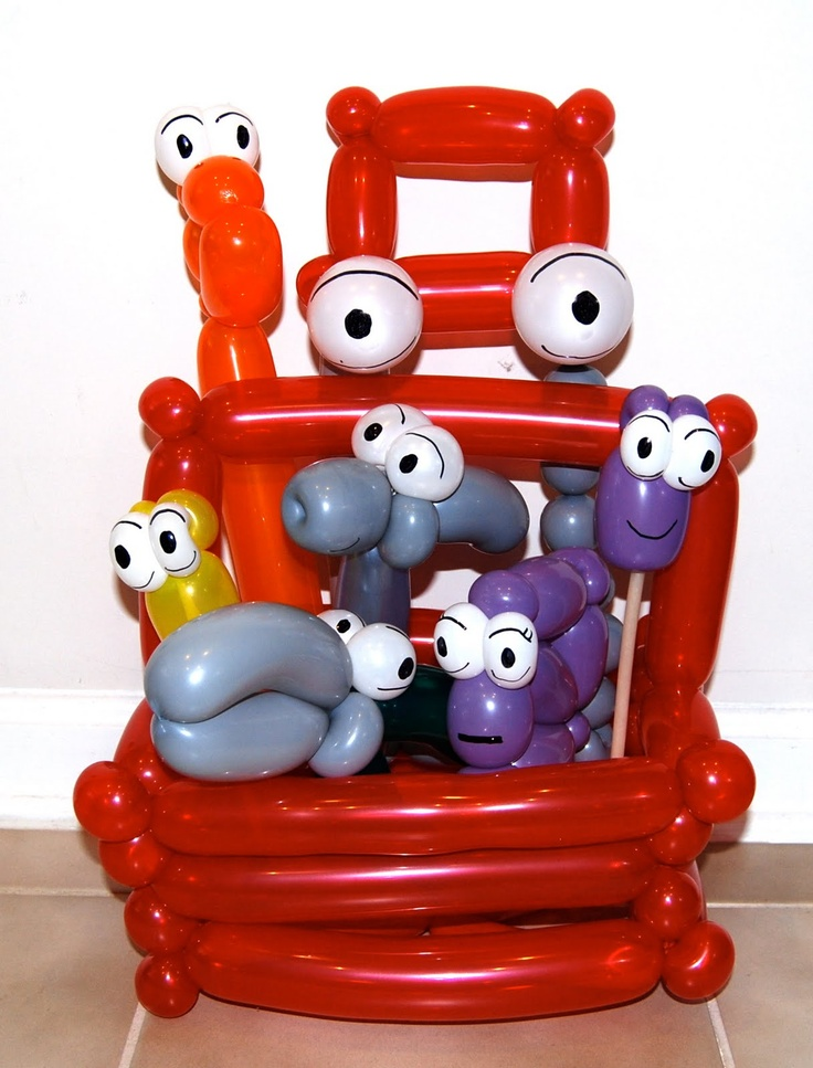 224 best balloon art images on pinterest balloon ideas for Handy manny decorations