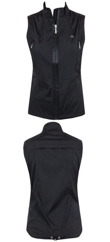 Athletic Vests 181143: J.Lindeberg Aria Stretch Chambray Vest - Black -> BUY IT NOW ONLY: $59.99 on eBay!