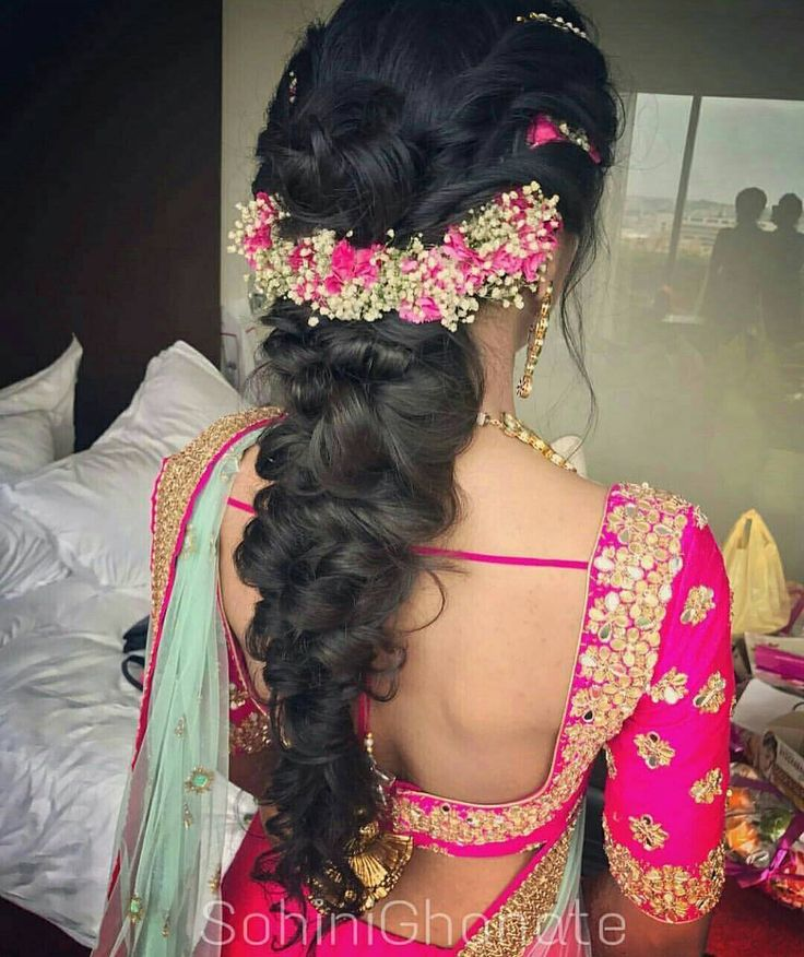 Perfect hairgoals for today's woman of substance who want nothing less than the best for her wedding!  Hairgoals set by @sohinighanatemua  #hairstyles #hairgoals #braid #messyhair #floral #hairaccessories #pink #gottapatti #tassel #tassels #sexy #gorgeous #hairdo #bridal #mehendiday #mehendilove #bridalinspiration #bridalfashion #hairstylist #indianbride #indianwedding #gajra #weddinginspo #instastyle #instafashion #bride #Eventila