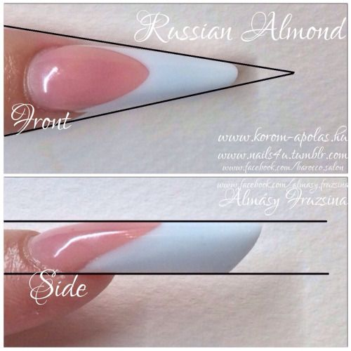 russian almond nails -Anyone else heard of this? thought it was called an edge but sharper on top?