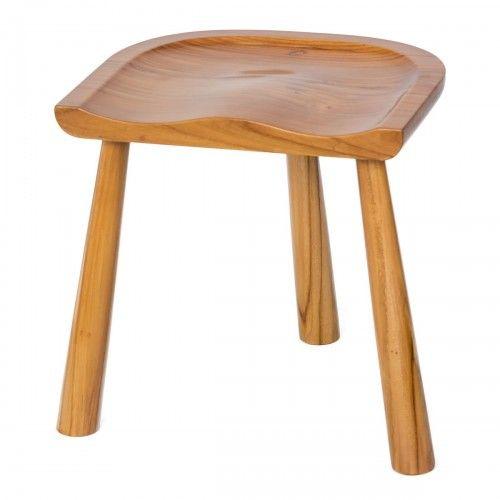Mejangan   bangku kayu jati desain skandinavia unik dekor kafe rumah stool scandinavian wood interior design furniture