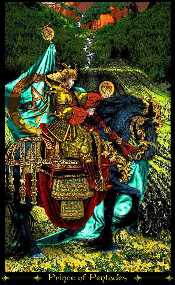 Tarot D The Didactic Tarot By Jeffrey M Donato: Cavalier D'écus - Tarot Illuminati Par Erik Dunne