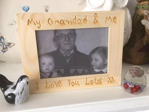 my grandad and me small photo frame can be personalised
