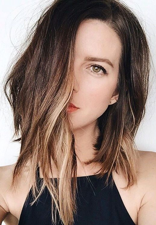 Hair Crush Long Asymmetrical Ombr Bob Fashion