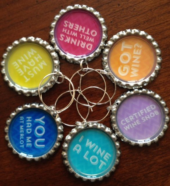 1000 ideas about wine charms on pinterest wine glass for What can you make with bottle caps
