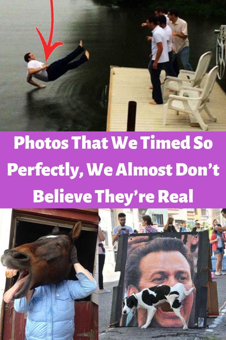 Fotos, die wir so perfekt zeitlich abgestimmt haben, glauben wir fast nicht, dass sie echt sind