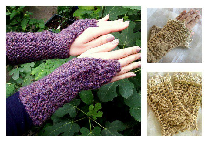 Fingerless gloves are quite popular during fall and winter. Here are a couple of beautiful Crochet Fingerless Gloves Free Patterns that you can use.