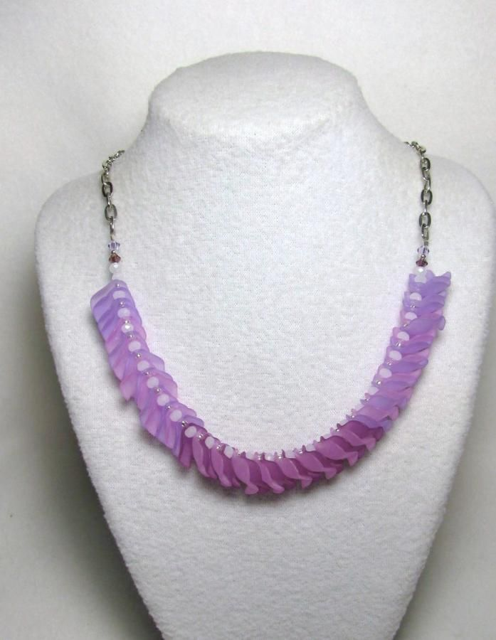 Lilac Plum - Jewelry creation by Linda Foust