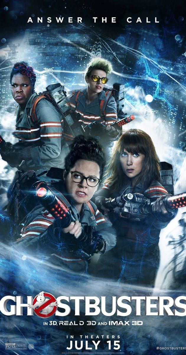 Directed by Paul Feig.  With Melissa McCarthy, Kristen Wiig, Kate McKinnon, Leslie Jones. Following a ghost invasion of Manhattan, paranormal enthusiasts Erin Gilbert and Abby Yates, nuclear engineer Jillian Holtzmann, and subway worker Patty Tolan band together to stop the otherworldly threat.