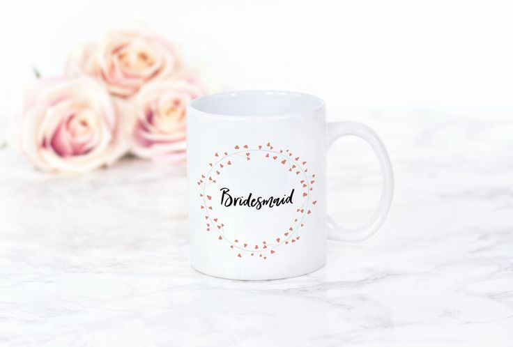 Bridesmaid Mug | Wedding Mug | Bridesmaid gift | Bridesmaid Coffee/tea Mug | Bridesmaid Latte Mug | Wedding gift mug by FrazzleFlorrie on Etsy https://www.etsy.com/uk/listing/507314604/bridesmaid-mug-wedding-mug-bridesmaid